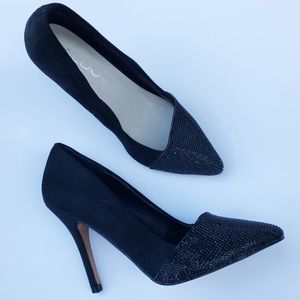 NWOT ALDO • Genuine Suede Pointed Cap Toe Pumps